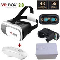 Wholesale NEW Google cardboard VR BOX II Version VR Virtual Reality D Glasses For inch Smartphone Bluetooth Controller