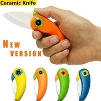 Wholesale New hot Kitchen Fruit Paring Knife With Colourful ABS Handle Mini Bird Ceramic Knife Gift Knife Pocket Ceramic Folding Knives
