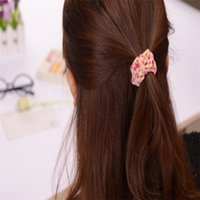 Wholesale 10Pcs Cute Sweet Girl Elastic Hair Band Ponytail Holder hair Accessories Headwear Hair Accessories for Women
