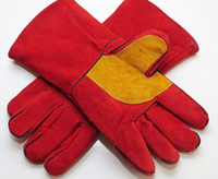 auto mechanical repairs - 60pcs high quality leather gloves safty gloves welding gloves pure cow leather to auto repair welding construction mechanical farm works