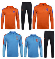 Wholesale NetherlandsTraining Wear Soccer tracksuits Best quality survetement football training suit sweat soccer jogging football Netherland