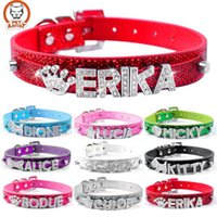 beautiful pet names - Beautiful Bling Personalized Pet Dog Collar Rhinestone Customized Free Name Diamond Bucklet XS S M L