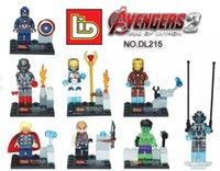 Wholesale New arrival Super Heroes The Avengers Superman Minifigure Figures Building Block Minifigures children Toys without package box