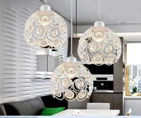 Wholesale K9 Crystal head Creative restaurant wrought iron chandelier led e27 bulbs corridor crystalline Pendant Light restaurant Living