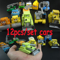 Wholesale 12pcs Cars Model Toy Plastic Diecasts Toy Vehicles Classic Toys For Boys