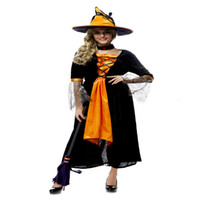 acting movies - hot ladies womens Halloween witch costume adult female witch and upscale bar Cosplay Party act out clothes
