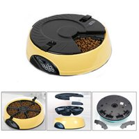 Wholesale 6 Meal Automatic Pet Feeder Auto Dog Cat Food Bowl Dispenser Electronic Yellow