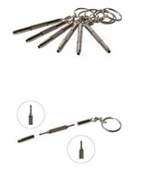 Wholesale 1000pcs in Mini Screwdriver Multi functional Screwdriver Keychain Mobile Glasses and Watch Repair Tool