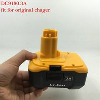 Wholesale 1 x New Replacement DeWalt High Quality DC9180 V mAh Li ion Power Tools Battery Pack order lt no track