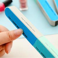article beauty - Scrub Nail Files Sides Colorful Pro Nail Article Files Beauty Nail Manicure Art Tools Polishing Block Sanding Nail