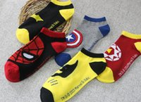 Wholesale NewCalcetines Marvel Superhero socks unisex fashion Men socks one size breathe freely super hero socks marvel