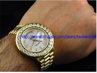 analog yellow diamond - LUXURY AAA BRAND NEW Automatic MM k Yellow Gold Mens watch Diamond Watch Mens Watch Men s Watches
