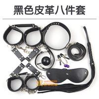 Cheap 8PCS set New Leather bdsm bondage Set Restraints Adult Games Sex Toys for Couples Woman Slave Game SM Sexy Erotic Toys Handcuff