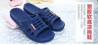 Wholesale 1pc Home slippers For Men And Women Home Slippers Summer Home Interior Hotel Shoes Bathroom Shoes Couple Shoes Soft Plastic Sandals Slip