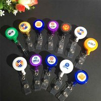 Wholesale Badge Holder Retractable Ski Pass ID Card Badge Holder Key Chain Reels orders good quality