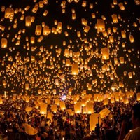 Wholesale Chinese Paper Sky Flying Wishing Lantern Lamp Designing for Party Wedding hot store