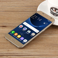 Wholesale S7 MTK6580 Quad Core Real GB GB Android Smartphone G MP Camera Show GB G Cellphone Unlocked Metal Frame DHL Free