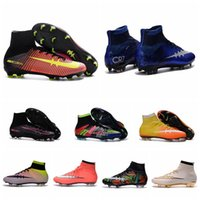 Wholesale Mercurial Superfly FG Mens Soccer Boots Mercurial Soccer Cleats Superfly Cleats ACC Football Soccer Shoes CR7 Superflys Football Boots