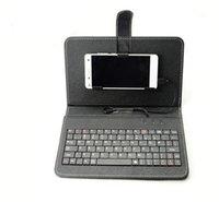 Caso del teclado universal PU del tirón del cuero de la cubierta portátil protector con el sostenedor del soporte para Samsung Galaxy s7 teléfono móvil 4.2 a 6.5 pulgadas Nuevo