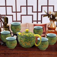 Wholesale top grade tea set exquisite tea cup ceramic teapot
