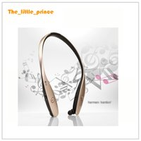 Wholesale HBS HBS Wireless Sport Neckband Headset In ear Headphone Bluetooth Stereo Earphones Headsets For iphone Samsung Note Free