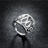 Wholesale 925 sterling silver thumb hollow ring Charming jewelry fashion and personality ring for men and women