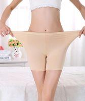 Al por mayor-cómodo más tamaño de las señoras de bambú boxeador pantalones cortos de verano ligero pantalones de seguridad Boyshort ropa interior para las mujeres 24-44 pulgadas