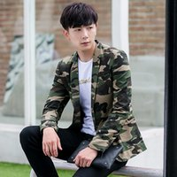 Wholesale New arrival autumn fashion camouflage slim fit blazer men one button male casual blazer costume homme men s clothing XF24