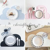 Wholesale 11 colors Waterproof Insulation Bowl Silicone Mat Placemat Table Protector Ins Placemat Table Mat Place Mats Cloud Mat M425
