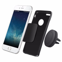 Wholesale For Iphone Car Mount Air Vent Magnetic Universal Mobile Phone Holder For Samsung Galaxy S7 S6 Car Holder With Retail Package DHL OTH196
