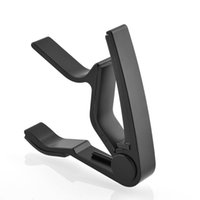 best acoustic bass guitars - Best Hot High quality Metal Acoustic Electric Guitar Bass Ukulele Trigger alloy Capo Tune Key Clamp Black
