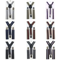 Wholesale Stripes Baby Boys Children Clip on Suspender Y Back Child Elastic Suspenders