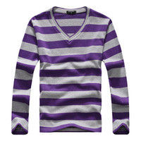 Wholesale Men s Casual T Shirt Long Sleeve Stripe T Shirt Men s Fashion Casual T Shirt