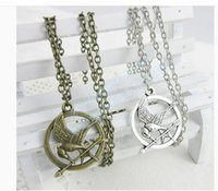 Wholesale Prop imitation Jewelry Katniss Movie The Hunger Games MOCKINGJAY PIN slavishly imitate necklace with retail package from Lomefo