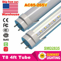 T8 angeles tube - Stock in Los Angeles New Jersey ft T8 Led Tube Light Super Bright W W W Cold White Led Bulbs AC85 V