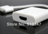Wholesale High Quality Pin Dock Connector to HDMI Adapter Converter Cable for iPad for iPhone s for iPod Touch HDTV P