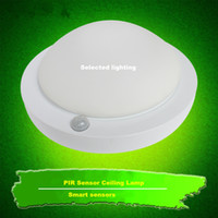Wholesale X5 W PIR Sensor Led Infrared Light lamp SMD5730 Pure White Warm White Motion Drector Led Ceilng Lamp for Corridor Staircase