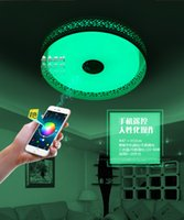 Wholesale Bluetooth music ceiling light LED colorful bedroom light color changing mobile phone smart APP remote control children s room