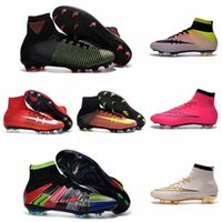 Wholesale Kids Mercurial Superfly V FG Football Boots Mercurial Soccer Cleats Cheap Soccer Boots Mens Football Cleats Superflys Football Shoes