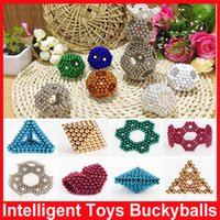 Wholesale 2016 HOT Intelligence toys for kids Bald Colorful Buckyballs Beneficial Thinking Bucky Magnetic Balls Grains Magnet Puzzle Birthday Gift