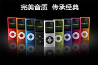 Wholesale Portable inch music player FM radio MP4 th with Earphone USB Cable Retail Box Support Micro SD TF Cards