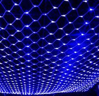 achat en gros de rgb led net-LED Net Light 2 * 3M / 4 * 6M / 8 * 10M Meshwork Lampes Décoration de Noël Ornement extérieur Feuille de mariage Feuille de lumière Lumières de cordes