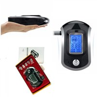Wholesale 60pcs Professional Mini Police Digital LCD Screen Breath Alkohol Alcohol Tester Breathalyzer AT6000 Bafometro Alcoholimetro ZA0285