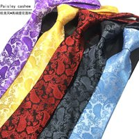 Wholesale 2016 New Men s Business Suit Tie polyester Paisley Classic high grade jacquard nicktie direct deal have colors A generation of fat