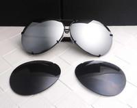 Precio de Gafas de diseño fresco-Las mujeres eyewear de las mujeres de los hombres del diseñador de la marca de fábrica P8478 refrescan el estilo del verano polarizaron los vidrios de sol de las gafas de sol de las lentes 2 sistemas lente 8478