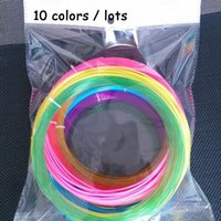 Wholesale 10pcs D Printer Filament diameter mm lenght m color DIY PLA no pollution Print Filament For D Drawing Printer Pen