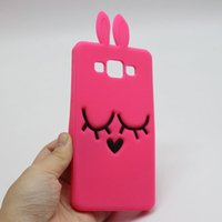 ace bunny - 3D Cartoon Bunny Back Cover Case For Samsung Galaxy Core Core2 Grand Prime Duos Neo S Duos J1 ACE J1 MINI J5 J500 A500 Rabbit Silicon Case