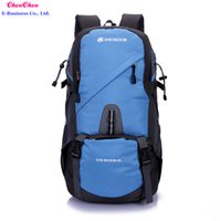 Wholesale H51 fashion new hot patchwork men s nylon backpack leisure outdoor movement travel bag zipper unisex camping hiking backpack