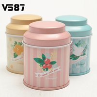 Wholesale Butterfly Knot And Line Drawing Style Kitchen Tea Sugar Coffee Storage Tin Box Portable cm