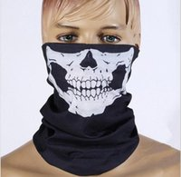 Wholesale black multi function skeleton sun protection cycling mask polyester seamless textile warm scarf halloween props